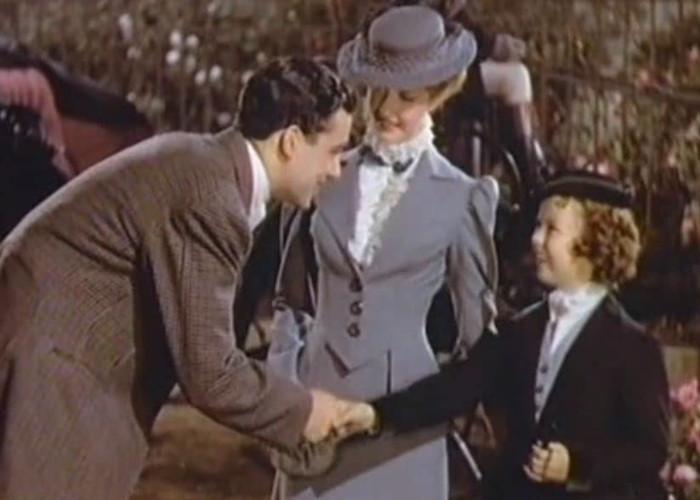 Shirley Temple, Richard Greene, and Anita Louise in The Little Princess (1939)