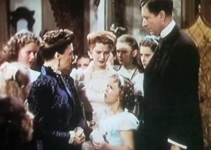 Shirley Temple, Marcia Mae Jones, Anita Louise, Mary Nash, and Arthur Treacher in The Little Princess (1939)
