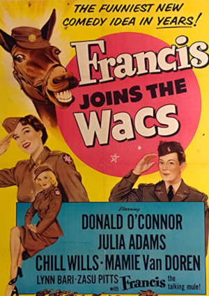 Julie Adams, Donald O'Connor, Mamie Van Doren, and Chill Wills in Francis Joins the WACS (1954)