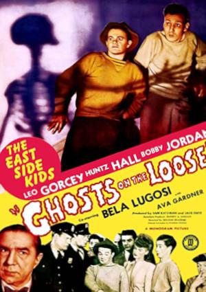 Bela Lugosi, Ava Gardner, William 'Billy' Benedict, Kay Marvis, Leo Gorcey, Huntz Hall, Ernest Morrison, Bobby Jordan, Ray Miller, Bobby Stone, and Rick Vallin in Ghosts on the Loose (1943)