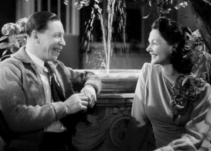 Elizabeth Allan and George Formby in He Snoops to Conquer (1945)