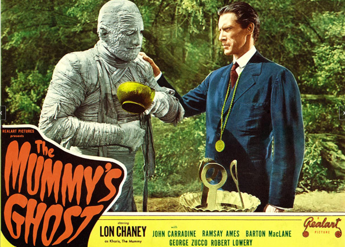 John Carradine and Lon Chaney Jr. in The Mummy's Ghost (1944)