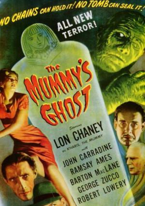 John Carradine, Lon Chaney Jr., Ramsay Ames, Barton MacLane, and George Zucco in The Mummy's Ghost (1944)